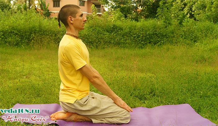 Ваджрасана при медитации