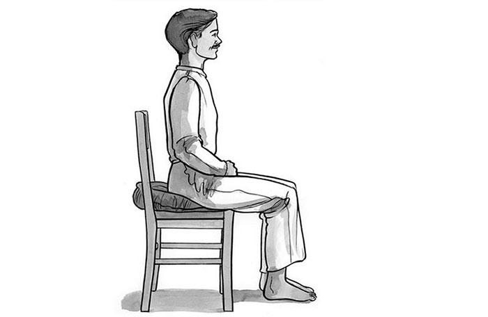 Сидя на стуле медитация