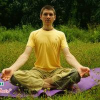 Поза для медитации по турецки, фото и видео