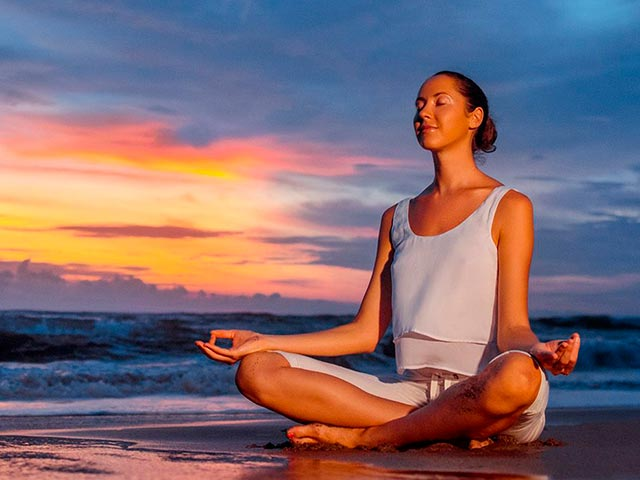 Медитативная поза фото