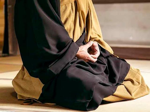 Японская медитация Дзадзен Фото
