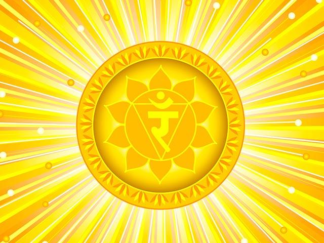 Желтая чакра Манипура Картинка